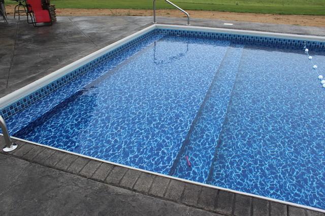 In Ground Vinyl Liner Swimming Pool Installations Modern
