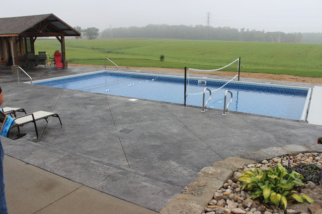 In Ground Vinyl Liner Swimming Pool Installations pool