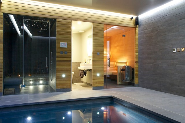 Indoor Luxury Swimming Pool Surrey Modern Pool South East By Design By Guncast