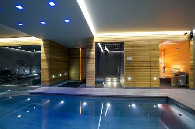 Indoor Luxury Swimming Pool Surrey Modern Pool Other By Design Guncast