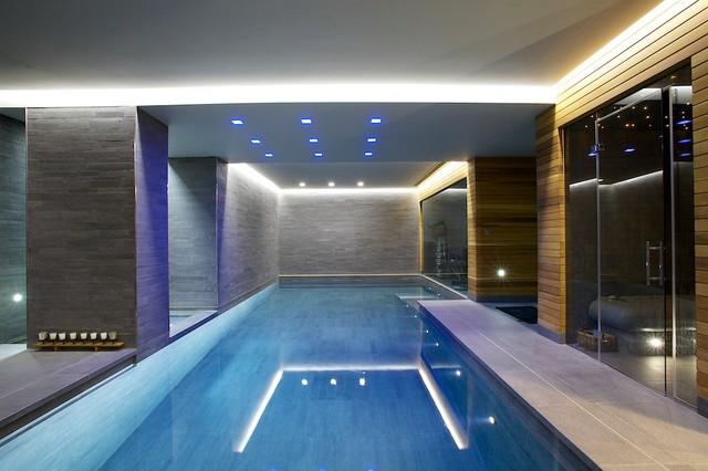 Indoor Luxury Swimming Pool Surrey Modern Pool New