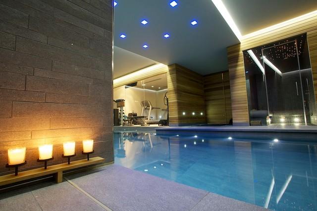 Indoor luxury swimming pool surrey modern swimming pool & hot
