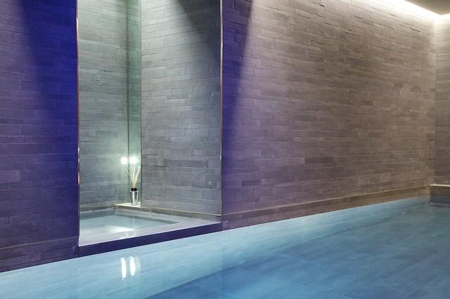 Indoor luxury swimming pool, Surrey - Modern - Swimming Pool & Hot ...