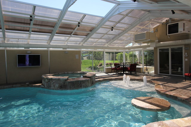 Indoor Outdoor Living Traditional Pool Chicago By Rosebrook Pools Inc