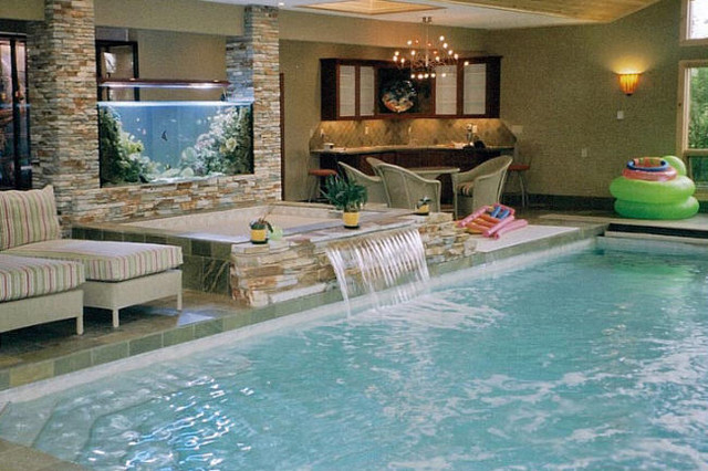 indoor pool and spa tropical pool