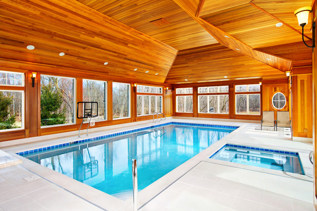 Indoor Pool and Spa traditional-pool