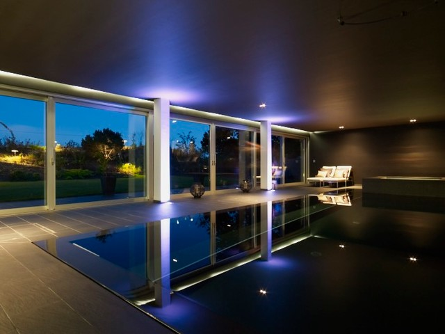 Indoor pool modern pool other by asvinteriors for How to build an indoor pool