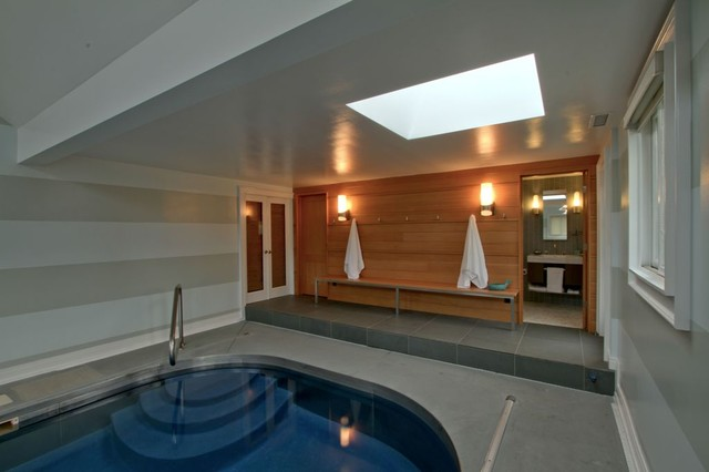 Indoor Pool Bathroom Traders Point Indianapolis Contemporary Pool Indianapolis By