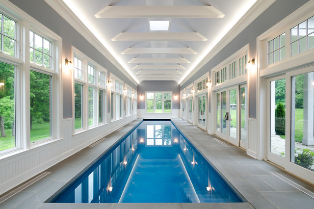 Indoor Pool - American Traditional - Swimming Pool - New York - by ...