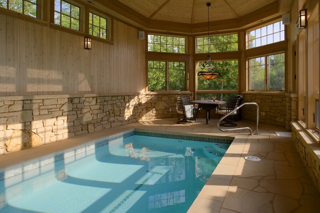 Indoor Pool - Eclectic - Pool - Minneapolis - by John Kraemer & Sons