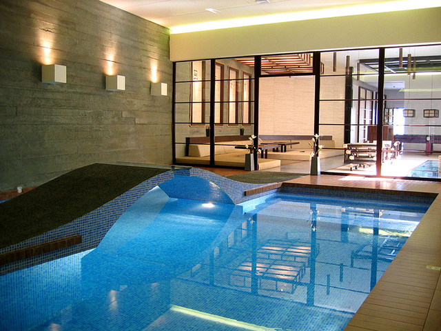 Indoor Pool Many Dream Of Still Love The Glass Wall
