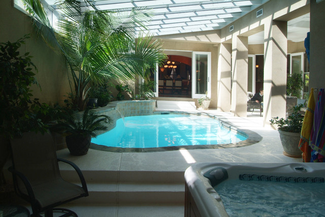 Indoor Pool Contemporary Pool Other Metro By Mcspadden Custom Homes
