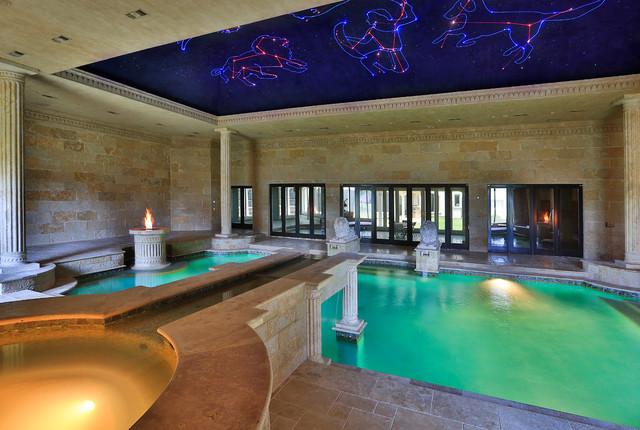 Indoor Roman Bath House Mediterranean Pool Dallas
