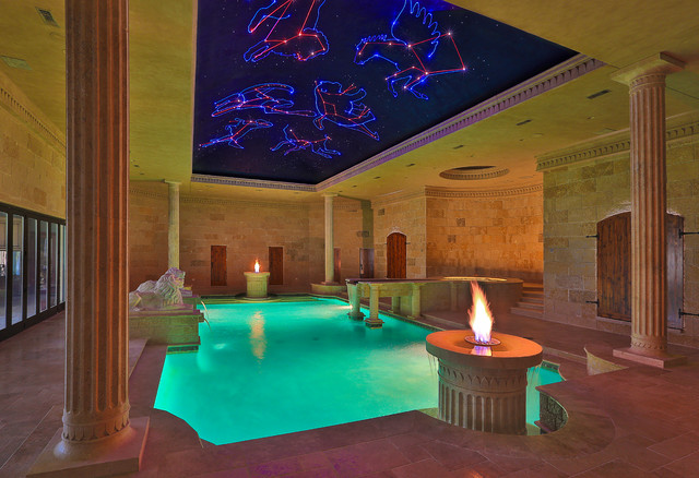 Indoor Roman Bath House Mediterranean Pool