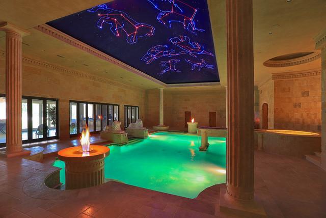 Indoor Roman Bath House - Mediterranean - Pool - dallas ...
