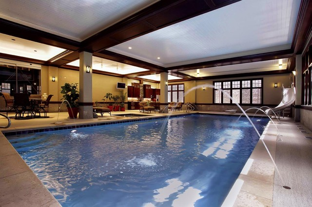 Indoor Swimming Pool - Traditional - Pool - Chicago - by Platinum ...