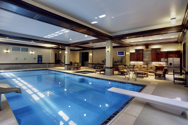 Chicago Indoor Swimming Pool traditional pool