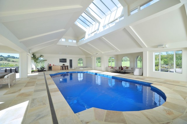 Indoor swimming pools modern pool auckland by for Pool design auckland