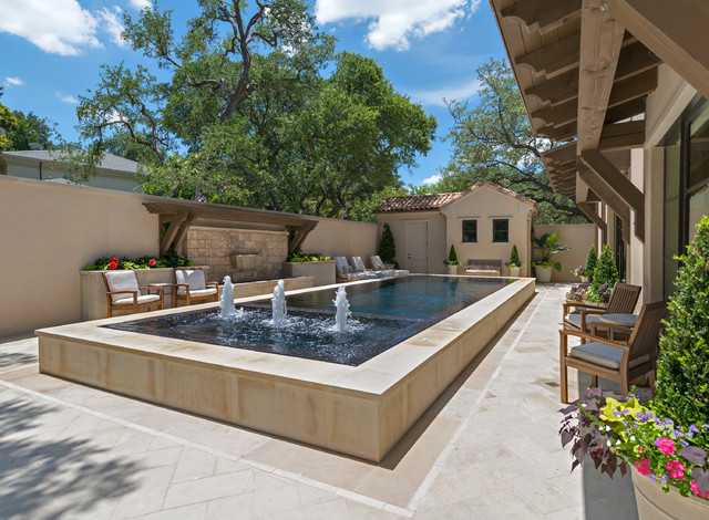 Infinity Edge amp Overflow Pools Mediterranean Pool Dallas By Harold Leidner Landscape