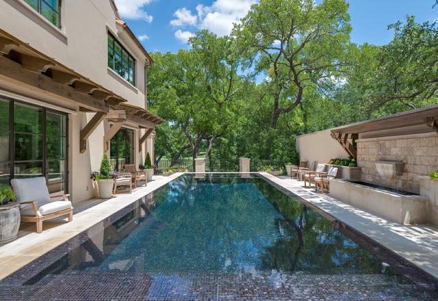 Infinity Edge Overflow Pools Mediterranean Pool Dallas By Harold Leidner Landscape