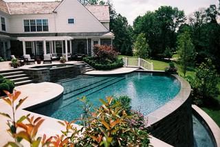 Infinity Edge Elements Villanova Pa American Traditional Swimming Pool Philadelphia