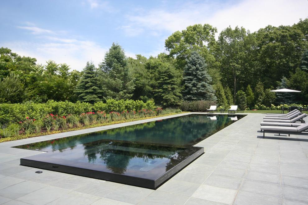 Infinity Edge Negative Edge Vanishing Edge And Rimless Pools Transitional Pool New York By J Tortorella Swimming Pools Houzz