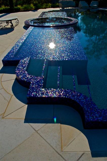 Infinity Edge Perimeter Overflow Pool Design In NJ Mediterranean Swimming  Pool And