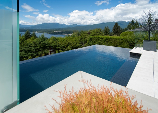 Infinity edge pool contemporary pool vancouver by for Pool design vancouver