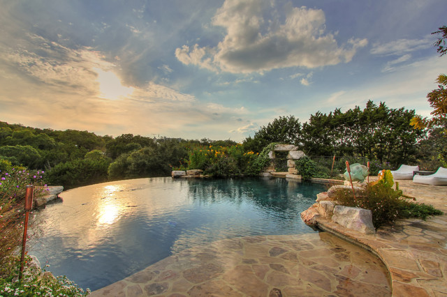 Infinity Edge Pool San Antonio Traditional By