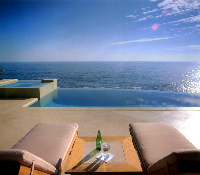 Infinity Edge Pool contemporary-pool