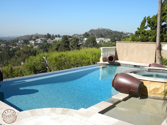 Infinity pool with jacuzzi supreme remodeling inc - Salt water swimming pools los angeles ...