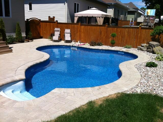 Inground Pools Modern Pool Ottawa By Campbell Pools