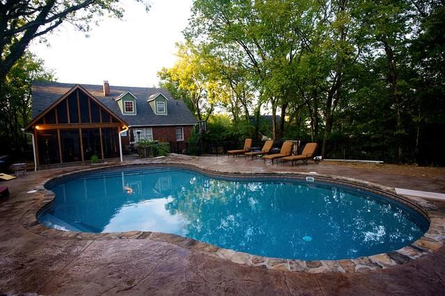 Inground pools southwestern pool nashville by pool for Pool design nashville