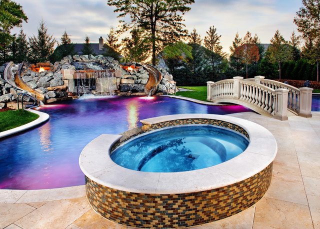 Inground swimming pool spa traditional pool chicago by platinum poolcare - Pools in chicago ...