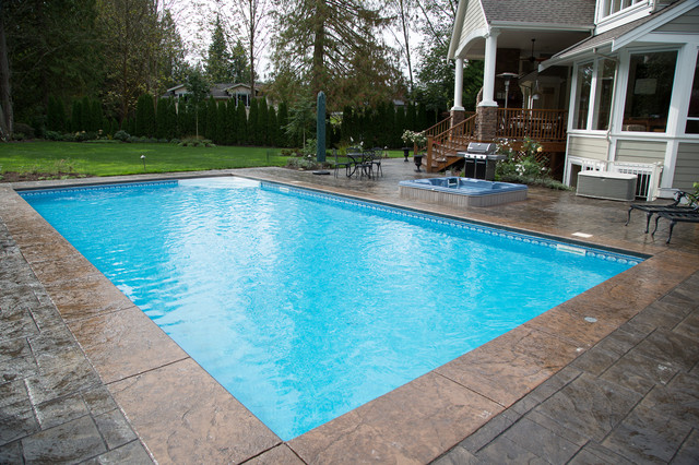 Inground pool with hot tub joy studio design gallery for Pool design vancouver