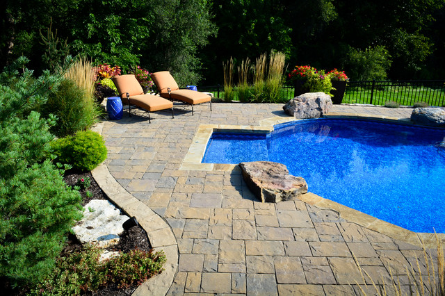 Innovative pool patio rustic pool omaha by for Pool design omaha