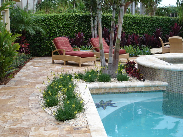Intercoastal Luxury Home Landscape & Pool tropical landscape