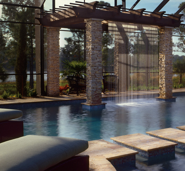 Interior design installation pictures for luxury custom for Pool design tampa