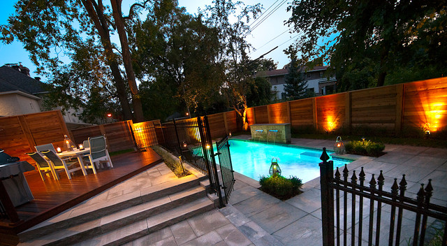 Intimate Backyard Pool Oasis modern-pool