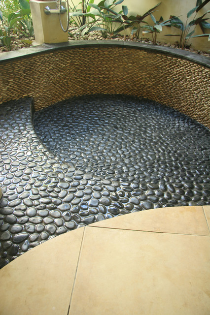 Island Stone King Pebble Pool Medan Charcoal Modern