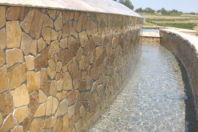 Island Stone Large Random Tile Pool modern-pool
