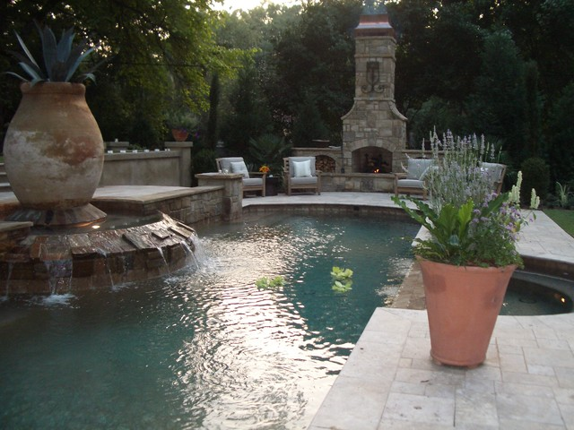 Italian Villa - traditional - pool - atlanta - by Bennett Design ...