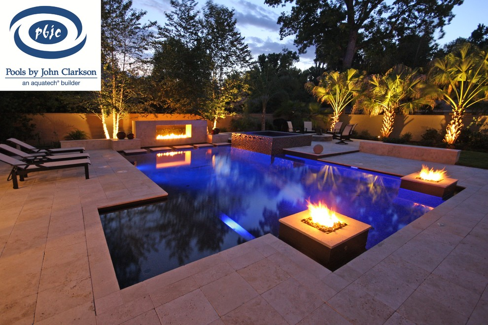 Inspiration for a contemporary pool remodel in Jacksonville