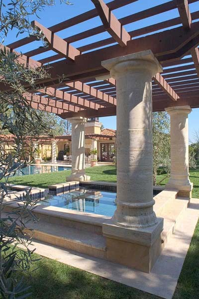 Los Gatos Mediterranean Custom New Home traditional-pool