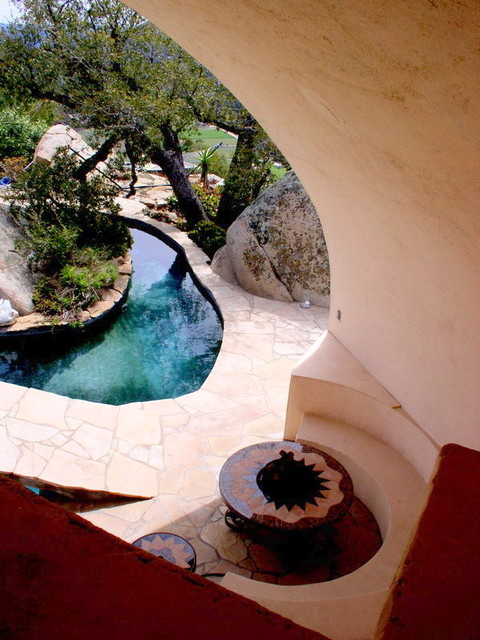 Jamul concrete house - Eclectic - Pool - san diego - by David Klages Design