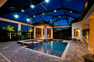 John Cannon Homes - Private Residence in Lakewood Ranch, Florida - Traditional - Pool - Tampa ...