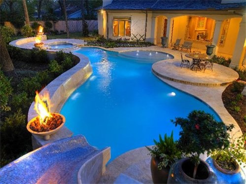 Kb custom pools contemporary pool austin by kb for Pool design miami