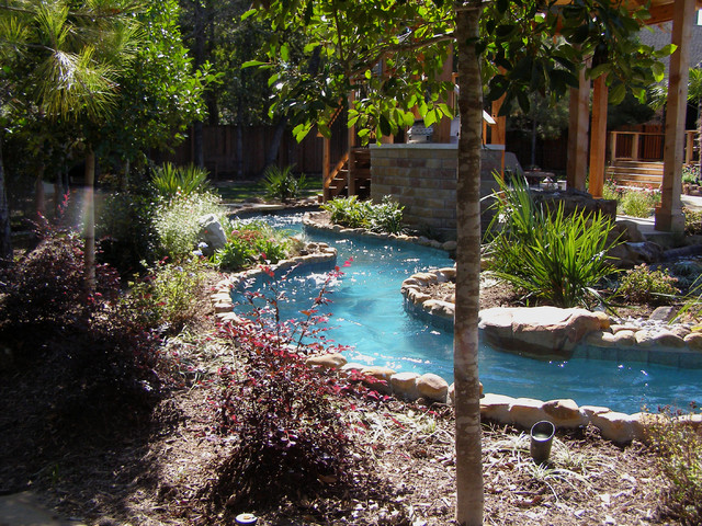 Keller Lazy River Rustic Pool Dallas By Pools Of