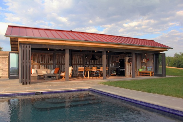 Kentucky Pool House Rustic Pool Louisville by Bensonwood