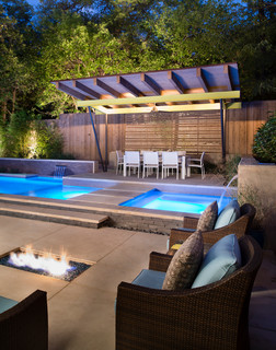 Kessler park modern modern pool dallas by randy for Pool design dallas texas
